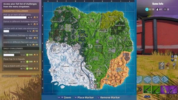 Fortnite plane locations