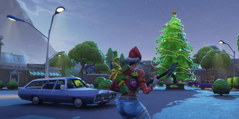 Fortnite holiday tree