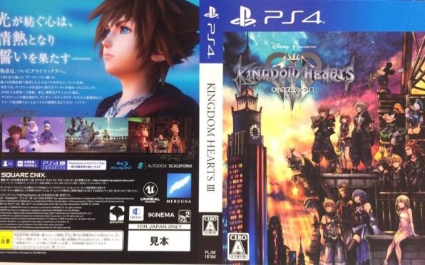 Kingdom Hearts III PlayStation 4 box sheet