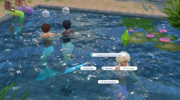 mermaid, mod, sims 4