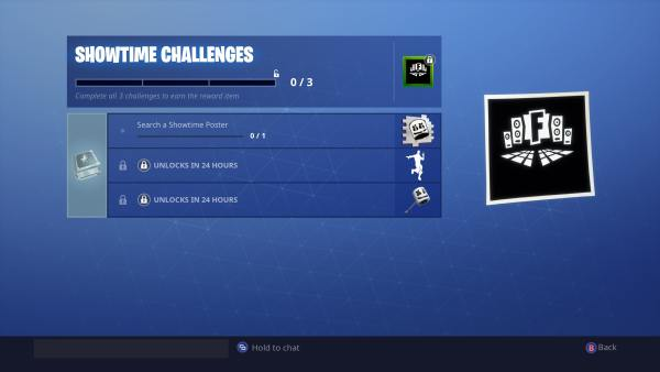 Fortnite Showtime Challenges