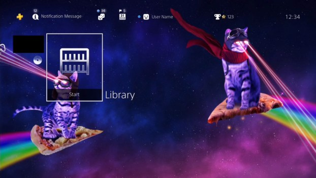Pizza Cats from Space HiQ Dynamic Theme