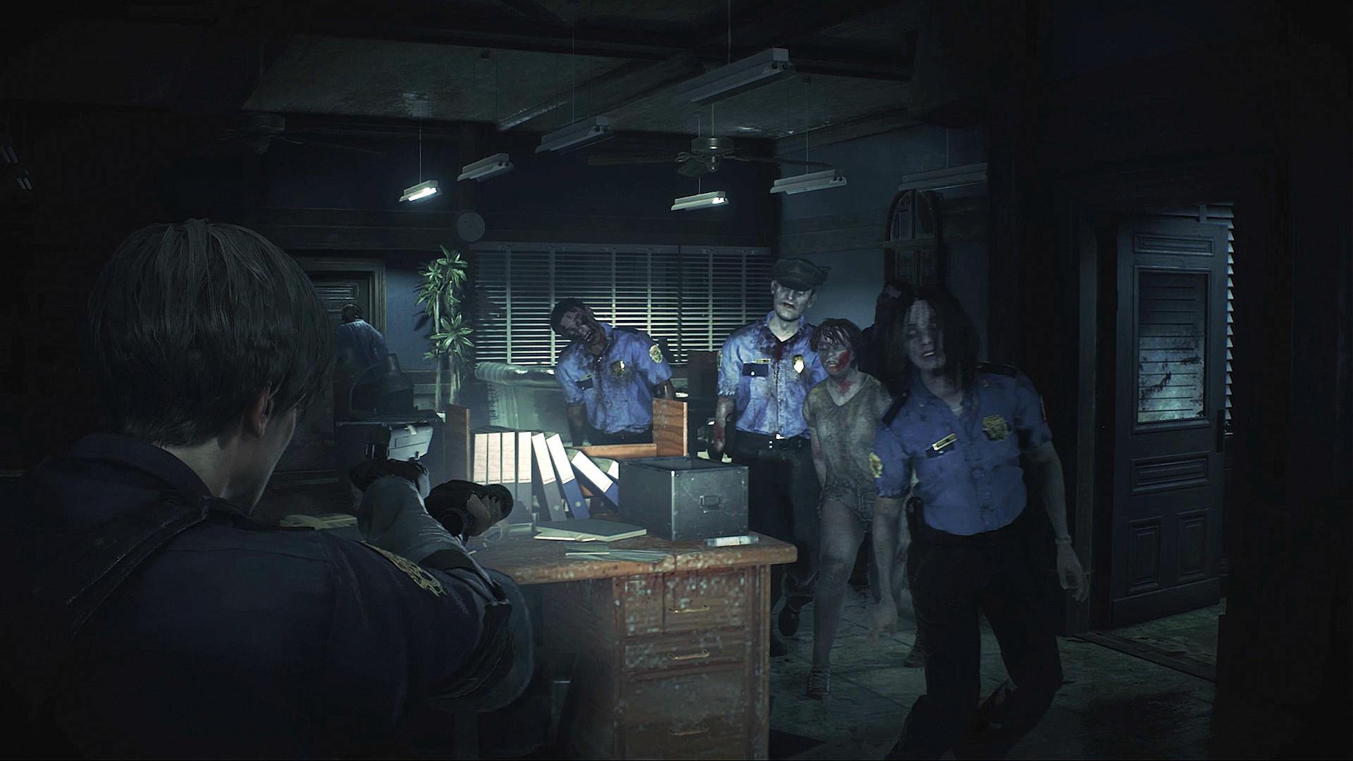 Resident Evil 2 Löwenstatue