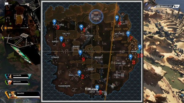 Apex Legends all nessy locations
