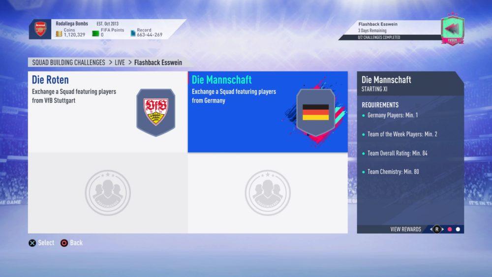 FIFA 19, flashback esswein sbc