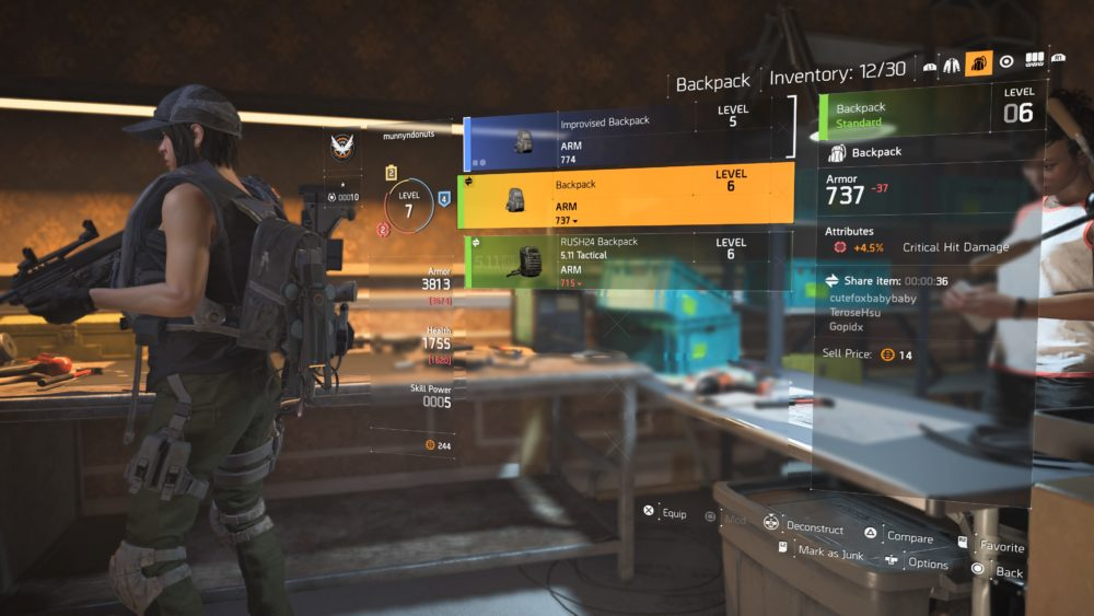 give items to other players division 2