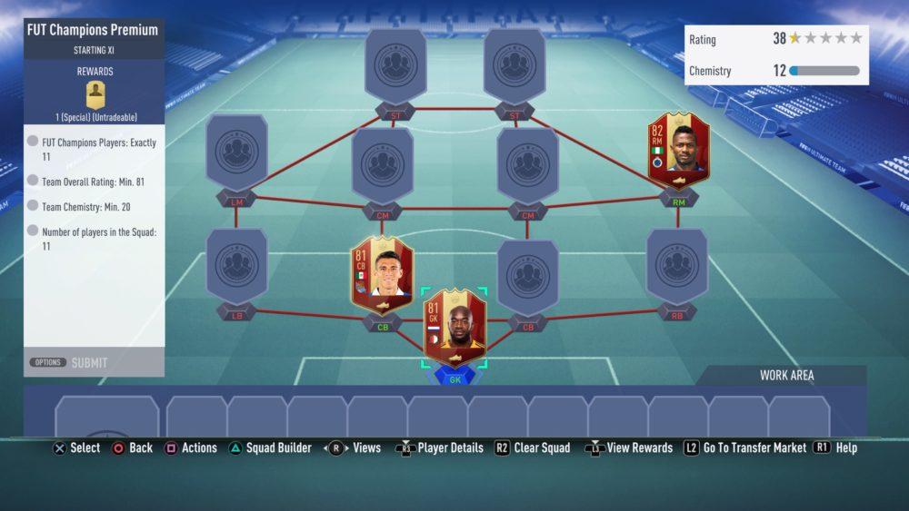 fifa 19, FUT Champions Upgrade