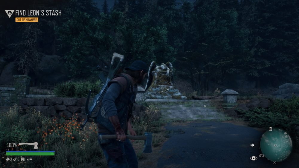 where the angel statue is in days gone, out of nowhere mission