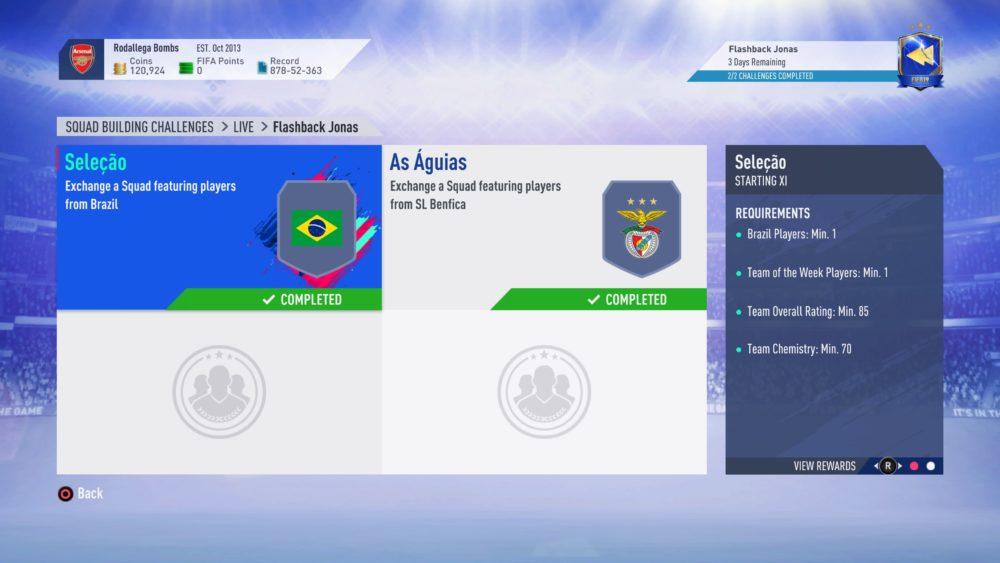 FIFA 19, flashback jonas sbc