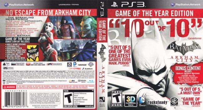 Batman Akrham City GOTY Edition
