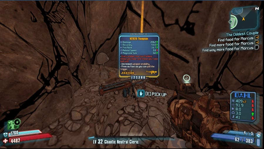 Borderlands 2: How to Get M2828 Thompson & Its Perks
