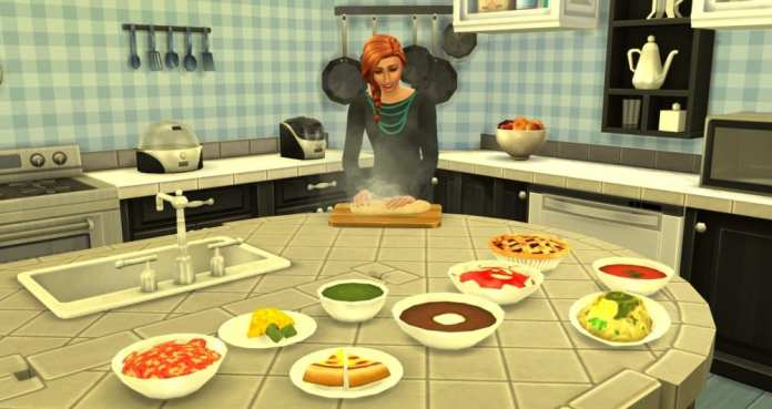 The Sims 4 food