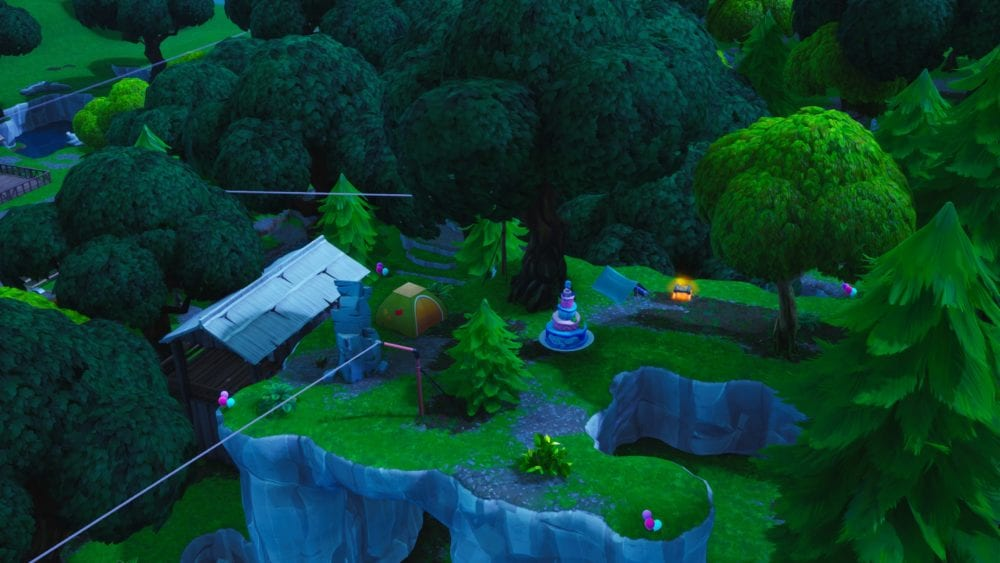 Fortnite Birthday Cake Locations Where To Dance In Front