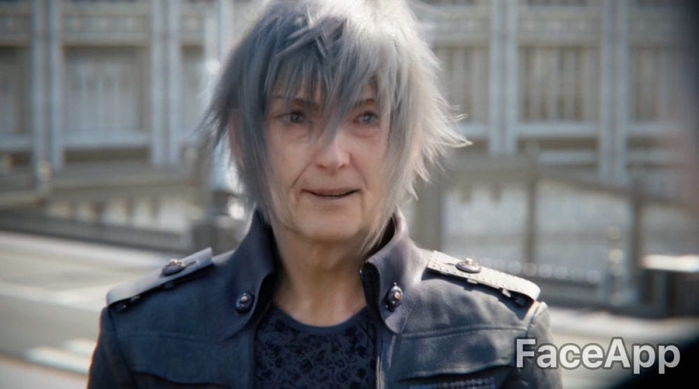 FFXV, Noctis, faceapp video game characters