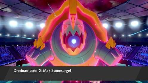 dynamax Drednaw in pokemon sword and shield