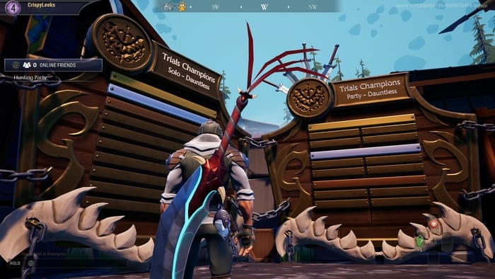 how to check trials leaderboard in dauntless