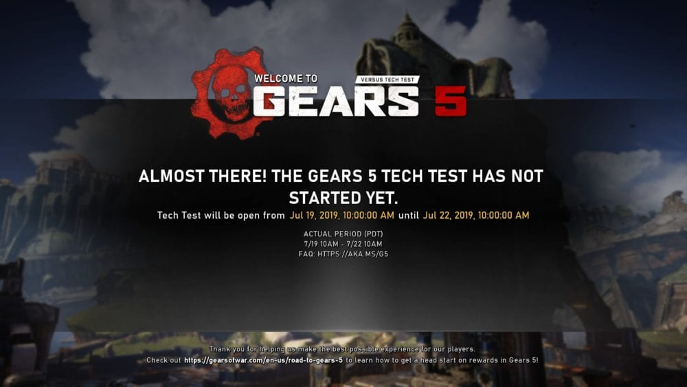 gears 5 tech test start time