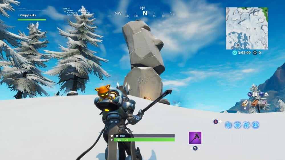 fortntie drift painted stone head statue