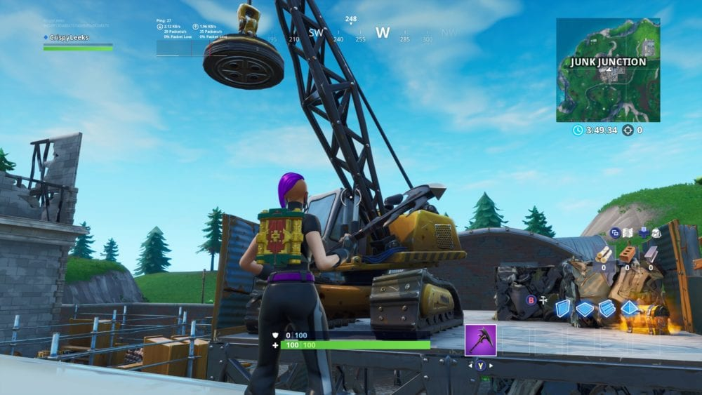 fortnite spray junkyard crane location
