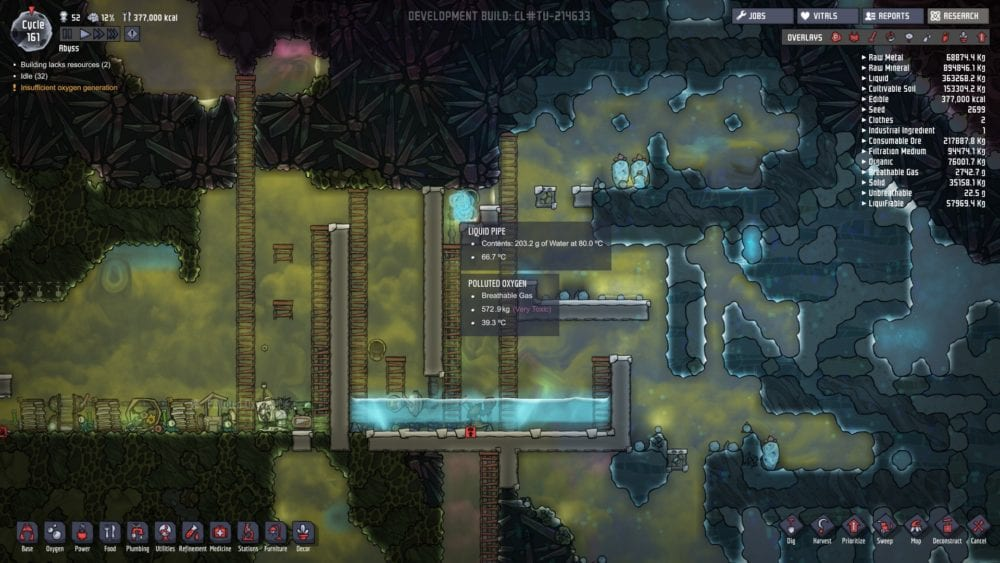 Oxygen Not Included: How to Get Rid of Polluted Oxygen