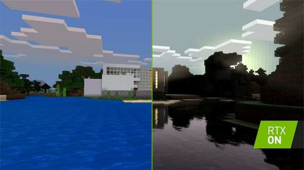Minecraft RTX raytracing