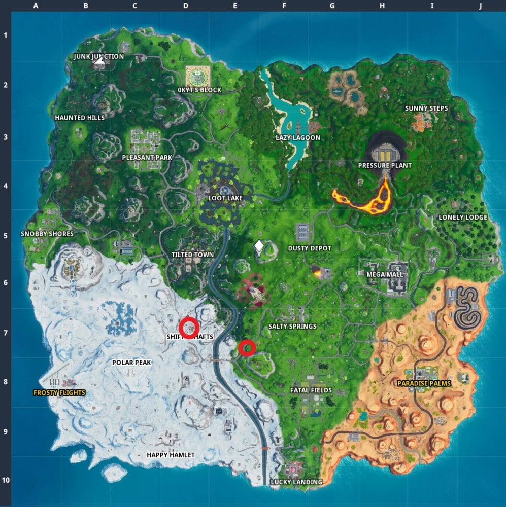 fortnite graffiti covered billboard locations