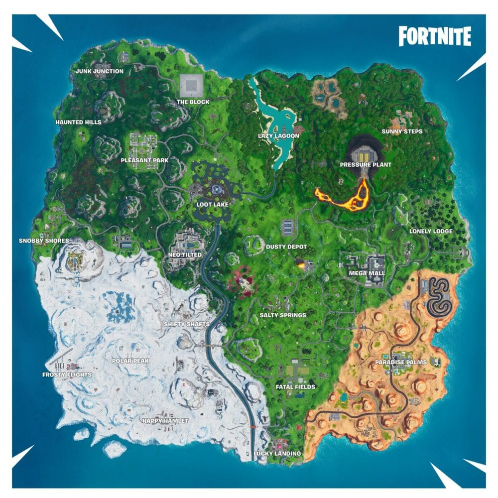 fortnite season 10 map