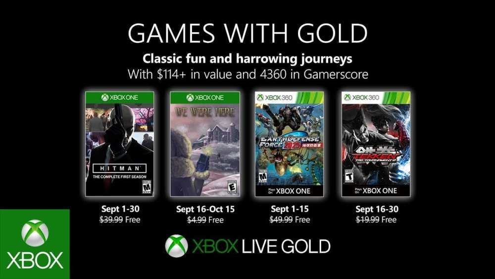 games with gold, september