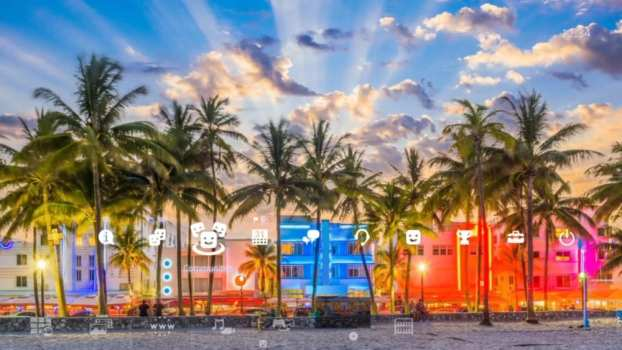 4K Brain Breaker Miami Beach Florida Dynamic Theme