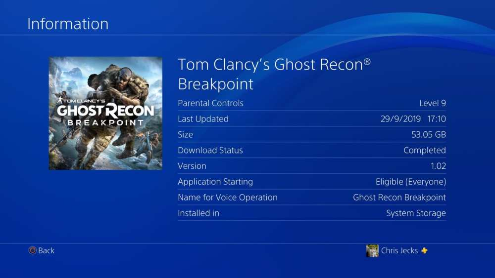 Ghost Recon Breakpoint Install Size