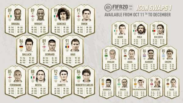 fifa 20, icons swaps, icons