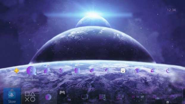 4K Amazing Floating Planets Dynamic Theme