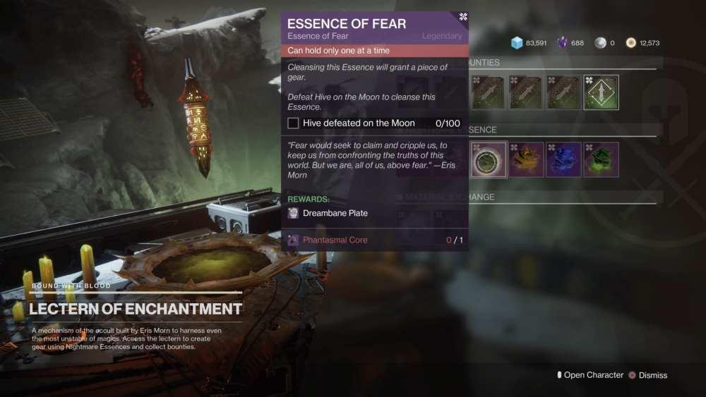 destiny 2 shadowkeep, essence of fear quest guide
