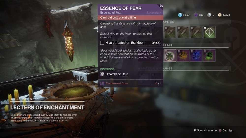 destiny 2 shadowkeep, guía de búsqueda de la esencia del miedo