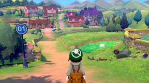 pokemon sword and shield, download size