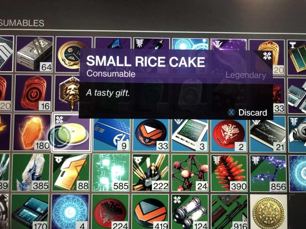 destino 2 pequeños pasteles de arroz