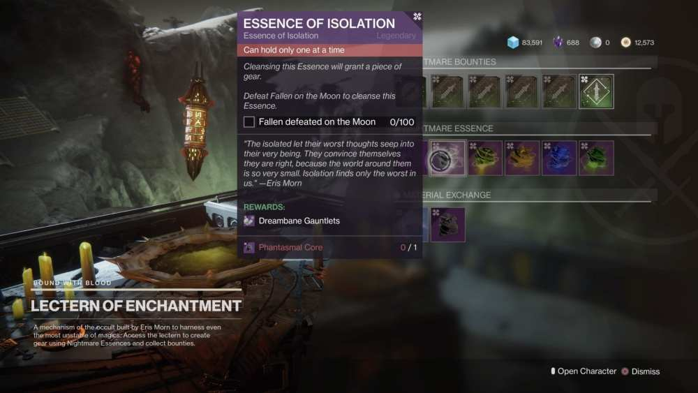 destiny 2 shadowkeep, essence of isolation
