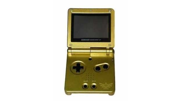 Gold LoZ GBA SP