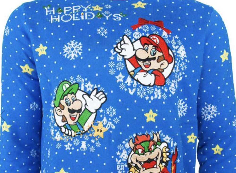 video game sweaters, mario