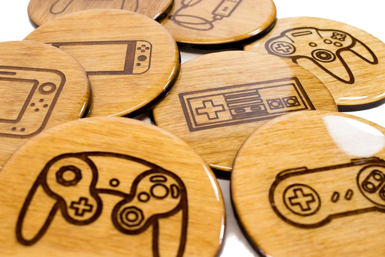 Nintendo console coasters, gifts,