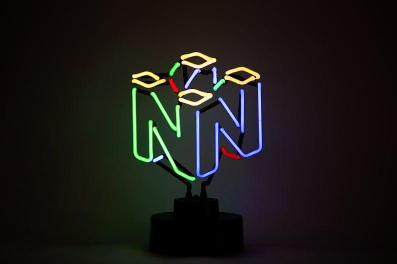 N64 neon light, nintendo holiday gifts