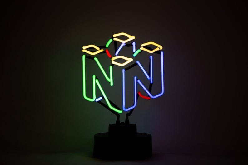 N64 neon light, nintendo holiday gifts