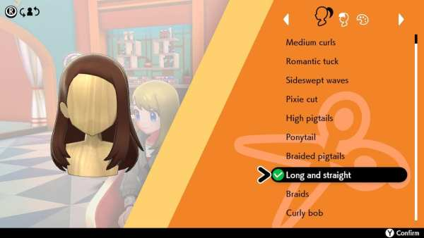 pokemon, sword and shield, hairstyle, long and straight