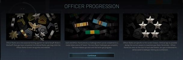 Modern Warfare Officer Ranks