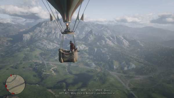 rdr2, mods, hot air balloon