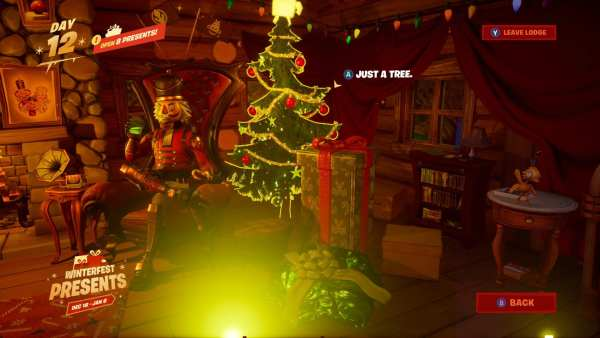 Christmas tree skin in Fortnite