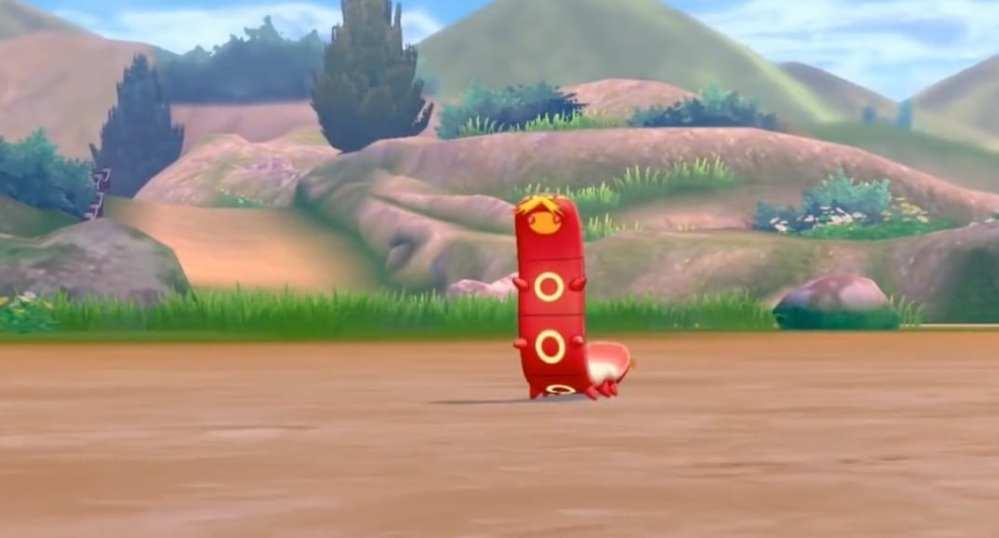Sizzlipede, pokemon sword and shield, pokedex entries