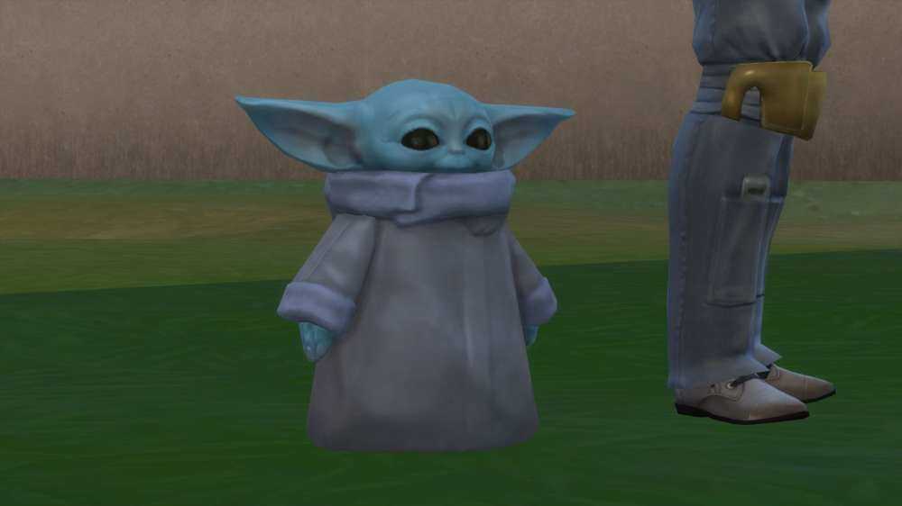 baby yoda, the sims 4, ts4, sims 4