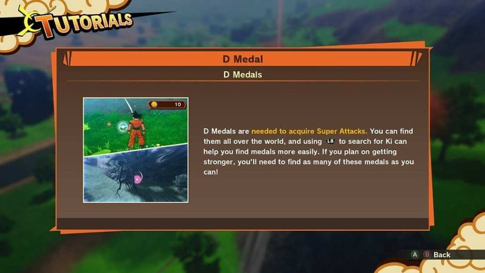finding d medals in dragon ball z kakarot