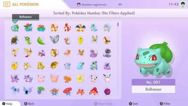pokemon home, national pokedex